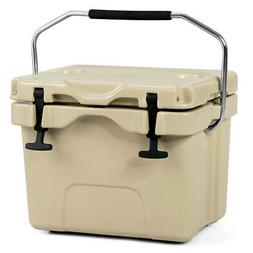 16 Quart Cooler Portable Ice Chest Leak-Proof 24 Cans Ice Bo