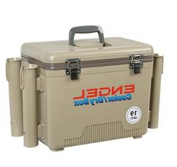 19qt Engel Cooler with Rod Holders Tan Dry Box Coolers UC 19