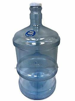 2 Gallon BPA FREE Stubby Reusable Plastic Water Bottle Jug C