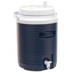 Rubbermaid 2-Gallon Plastic Beverage Cooler Ice Water Jug Bl