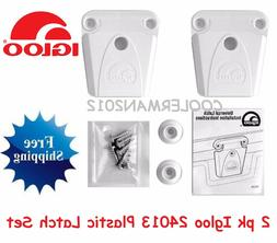 2 NEW IGLOO COOLER PART #24013 - LATCH POST AND SCREWS PARTS