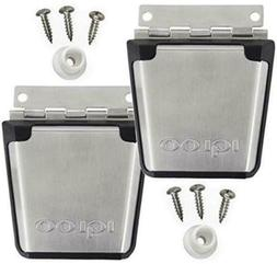 2 NEW IGLOO COOLER STAINLESS STEEL LATCH POST & SCREWS PARTS
