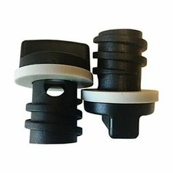 2-Pack of Replacement Small Drain Plugs for RTIC - Ergonomic