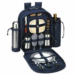Picnic at Ascot 2 Person Picnic Backpack w/ Coffee, Cooler &