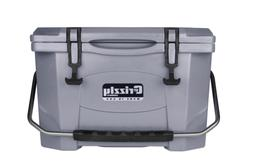 Grizzly Coolers 20 Quart Rotomolded Cooler, Gray