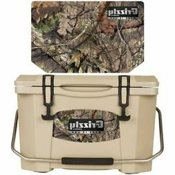 Grizzly Coolers 20 Quart Rotomolded Cooler, Tan Mossy Oak Br