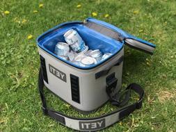 2019 YETI Hopper Flip 8 Cooler Leakproof Fog Gray/Tahoe Blue