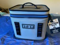 2019 NWT Yeti Hopper Flip 12 Leakproof Fog Gray/Tahoe Blue C