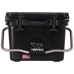 ORCA 20QT BLACK COOLER / LIFETIME WARRANTY / BLACK 20 QUART