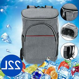 22L Insulated Cooling Backpack Rucksack Bag Ice Cooler Carri