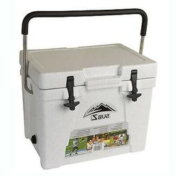 Sub Z 23 Quart Outdoor Camping Beverage Cooler w/ Stainless