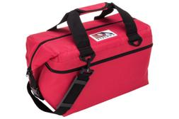 AO Coolers 24 Pack Canvas Soft Sided Cooler - Red - AO24RD