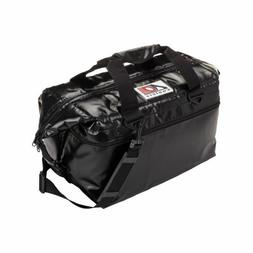 24 Pack Vinyl Soft Sided AO Coolers 24 Hour Ice Chest Black