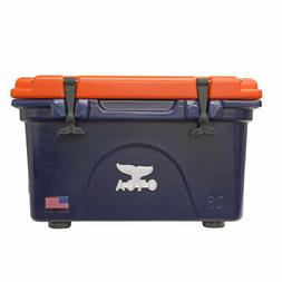 ORCA 26-Quart Collegiate Cooler, Dark Blue/Orange