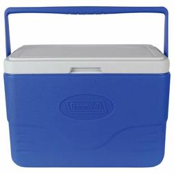 Coleman 28-Quart Cooler With Bail Handle, Blue, Red