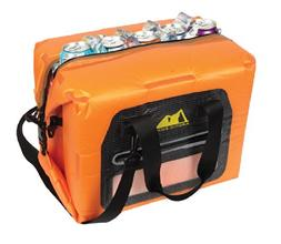 Arctic Zone 30 Can Self-Inflating Air Cooler, Orange, Large