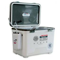 30 Qt Dry Box Cooler Live Bait Stainless Steel Screws Pump H