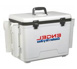 19qt Engel Cooler with Rod Holders White Dry Box Coolers UC