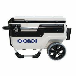 Igloo 34231 Trailmate Marine Wheeled Cooler, 70 Quart, White
