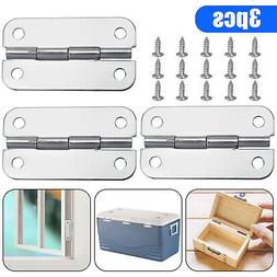 3PCS Stainless Steel Cooler Hinges & Screws Replacements for