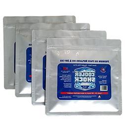 """Cooler Shock 4 Mid Size Cooler Freeze Packs 10""""x 9"""" - No Mor"""