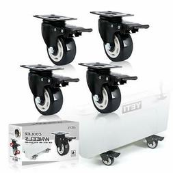 4 Pack Cooler Feet Universal Heavy Duty Wheels Kit for YETI