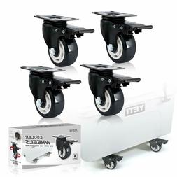 4 Pack Cooler Feet Universal Heavy Duty Wheels Kit for YETI
