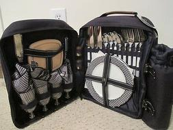 Picnic at Ascot 4 Person Navy Picnic Backback with Insulated