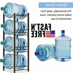 4-Tier Water Cooler Jug Rack - 5 Gallon Water Bottle Storage