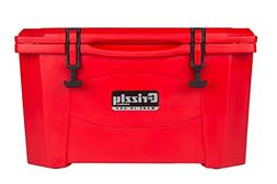 Grizzly Coolers 40 QT RotoMolded Cooler - Red - G40RED