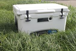 MILEE 45QT Ice Chest Box Cooler with $45 Accessories Basket