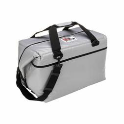 48 Pack Vinyl Soft Sided AO Coolers 24 Hour Ice Chest Black