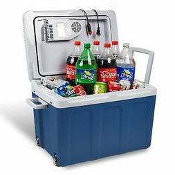 48 quart electric cooler warmer with built