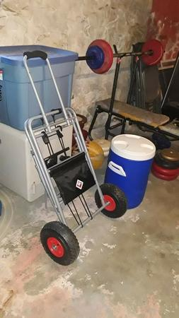 5 Gallon Igloo Cooler includes carrier with wheels-never use