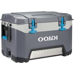 Igloo 52 Quart Bmx Lunch Beverage Ice Cooler Gray 00049783