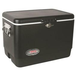 54 qt. matte black steel cooler | coleman belted camping che