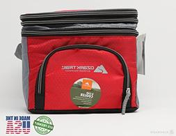 6 Can Cooler with Expandable Top- Red