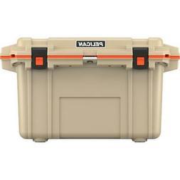 50Q-2-TANORG 50-Quart Elite Deluxe Cooler Tan w/ Orange Trim