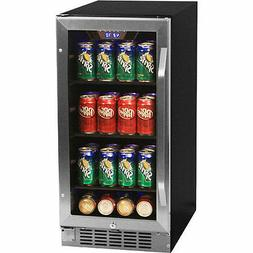 EdgeStar CBR901SG 80 Can 15 Inch Wide Built-in Beverage Cool