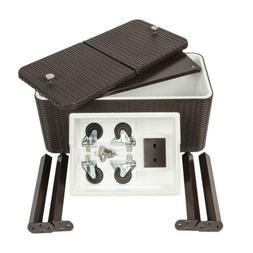 80qt outdoor portable cooler bar patio cooler