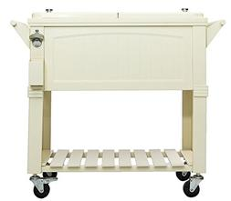 Permasteel PS-203F1-CREAM Patio Cooler with Insulated Basin,