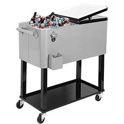 New Clevr Outdoor 80quart Party Portable Rolling Cooler Ice