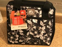 Igloo 9 Can Leftover Tote Cooler Bag - B/W Floral - Lunch Ba