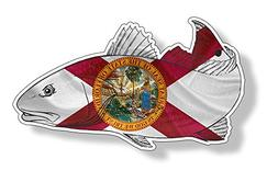 Florida FL Red Fish Sticker Car Truck Laptop Fishing Decal G