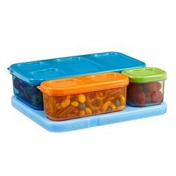Rubbermaid LunchBlox Kids Lunch Box Container Set, Flat, Ass