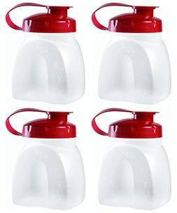 Rubbermaid MixerMate Servin' Saver 1 Pint Bottles, Pack of 4