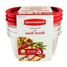 Rubbermaid Premier Food Storage Container, 14-cup Size, Clea