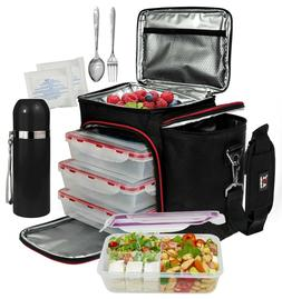 A2S Meal Prep Lunch Box - 8 Pcs - Cooler Bag 3x Portion Cont
