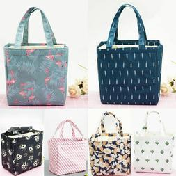 Adult Kid Insulated Lunch Bag Thermal Cooler Lunch Box Picni