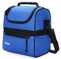 MIER Adult Lunch Box Insulated Bag Soft Cooler Adjustable St